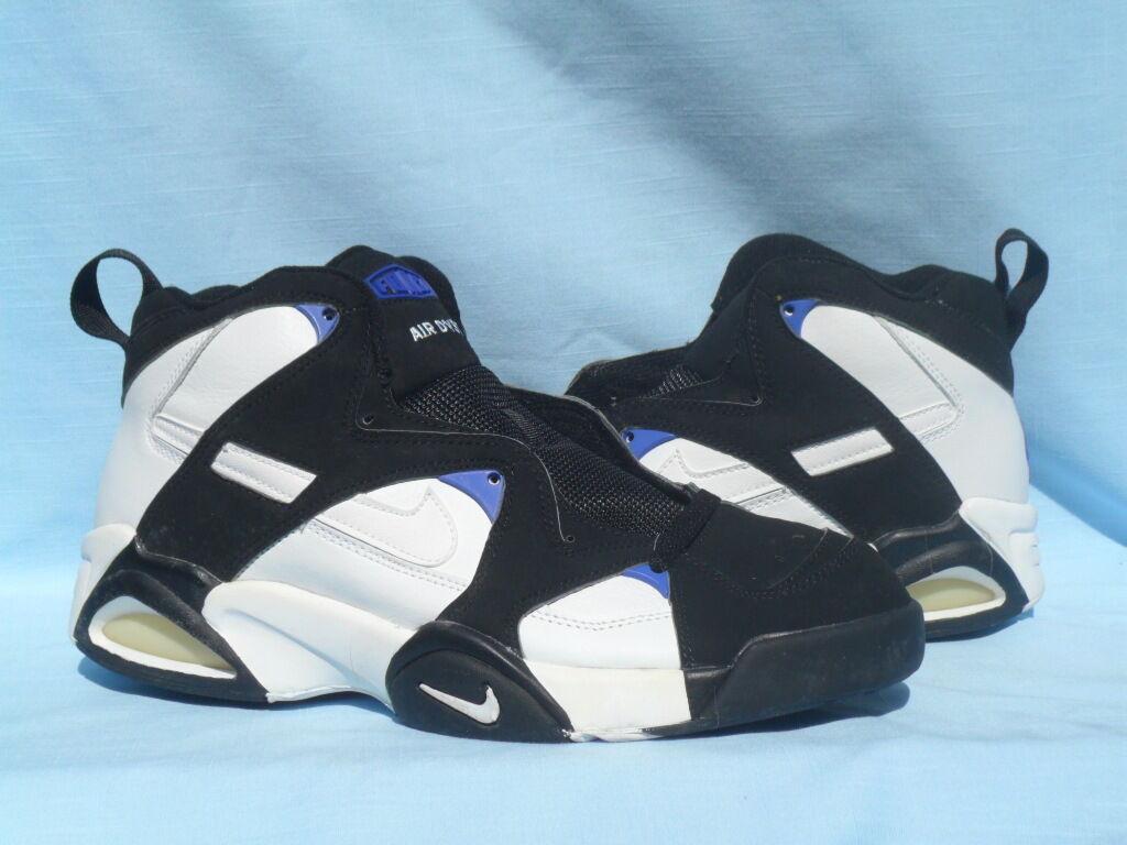 Vintage 1995 Nike Air DVST8 Devastate White/Black-Bright Concord Size OG Size Concord 12 e494fc