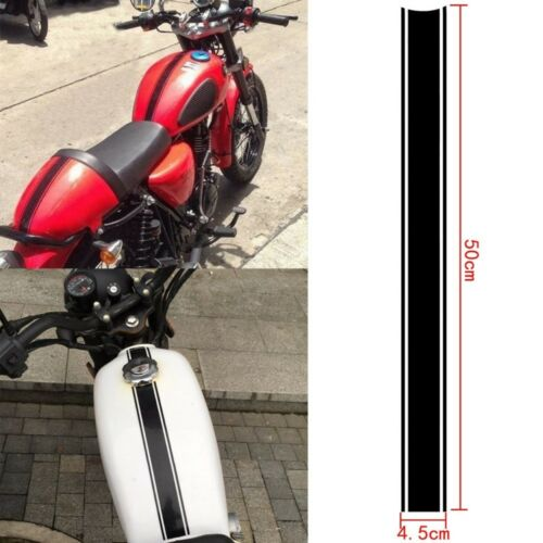 Motorcycle Tank Cowl Vinyl Stripe Pinstripe Decal Sticker 50cm For Cafe Racer