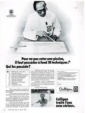Publicité Advertising 1974 Culligan