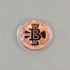 1pcs Solid Copper Commemorative Bitcoin Collectible Golden Iron Miner Coin Xn17