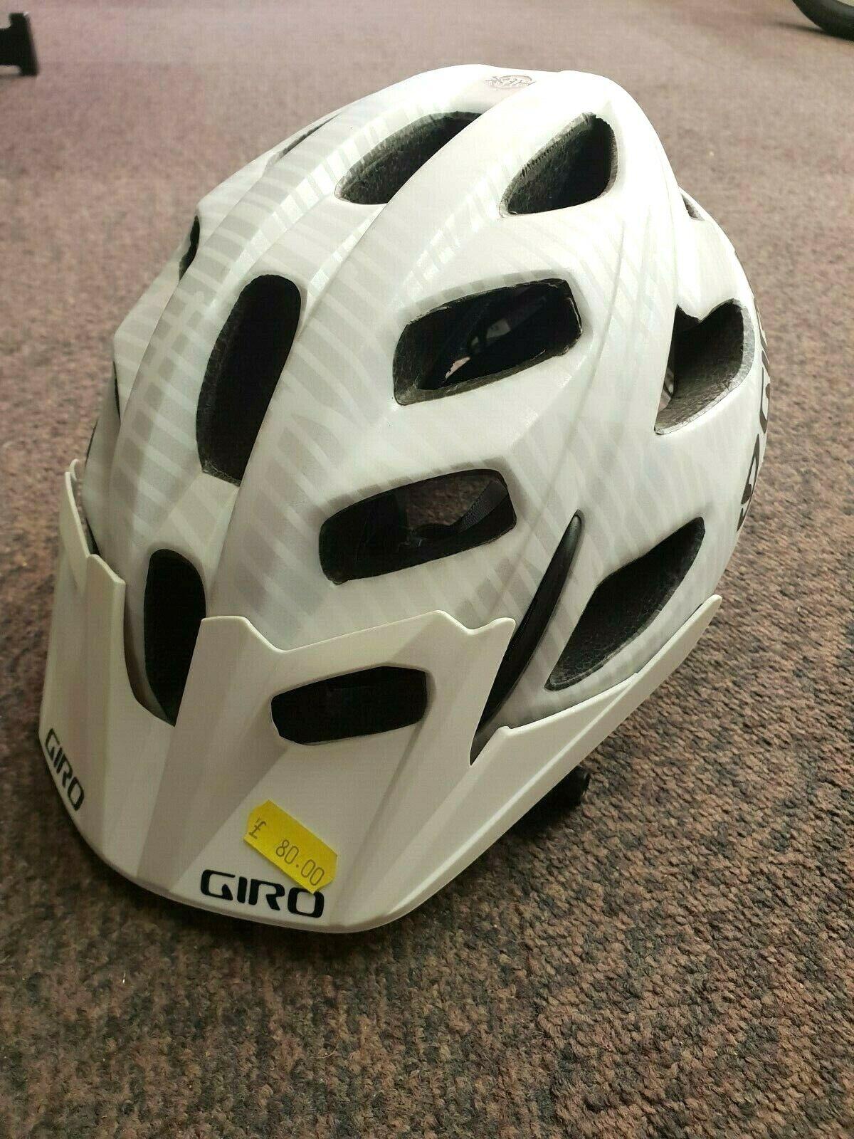 Giro Hex Casco OPACO Bianco Piccolo 5155cm Ciclismo MTB Fuoripista nuovo argentoo