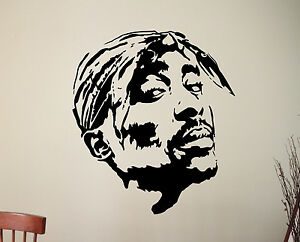 tupac wall decal 2pac vinyl sticker popular rapper hiphop