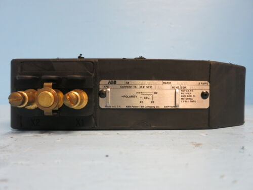 S# 7524A63G04 5000:5 Amps Current Transformer CT 5000A ABB Type CLE Current Tx