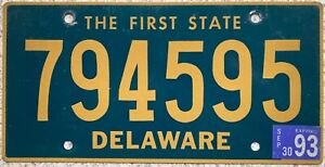 Delaware-The-First-State-American-License-Licence-Number-Plate-USA-Tag-749595