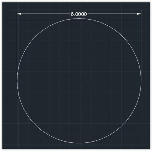 "Plexiglass 1//16/"" x 6/"" Circle 1pc Acrylic Plastic Clear Circle"
