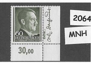 2064-MNH-1943-stamp-60-Gr-Adolph-Hitler-Occupied-Poland-Third-Reich