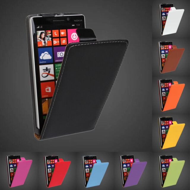 Magnetic Genuine Leather Vertical Flip Case Cover For Microsoft Nokia 3 5 6 7 8