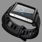 Black Aluminum Watch Band Wrist Band Bracelet Cover Case for Apple iPod Nano 6