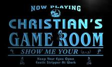 x0235-tm Christian's Sexy Game Room Bar Custom Personalized Name Neon Sign