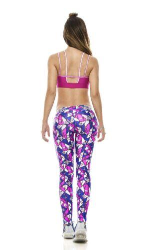 Babalu 37293 Women Active 2 Pieces Set Legging Top Gym Sports Fitness Yoga