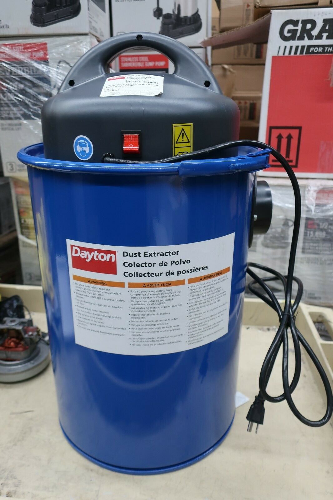 Dayton 49H001 Dust Collector Extractor ---- (S1). Buy it now for 349.99