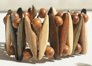 Armband-aus-handgefertigtem-Holz-034-B9-034-Schmuck-Natur-Modeschmuck-NEU