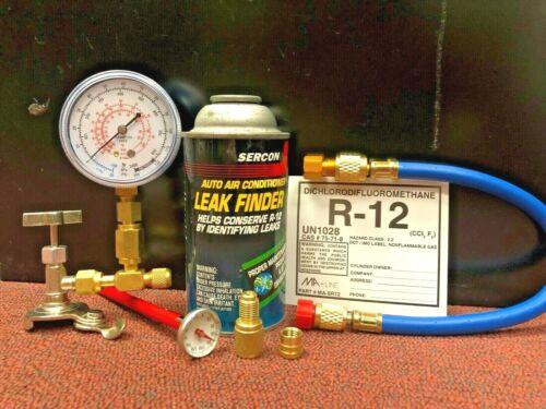 Recharge Kit Refrigerant 12 R-12 Virgin Pure Sercon Auto A//C LEAK FINDER R12