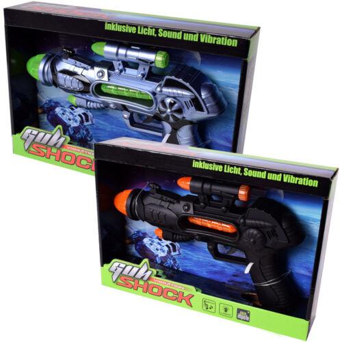 tevenger Kinder Spielzeug Pistole Laserpistole Licht Sound Gun schwarz silber