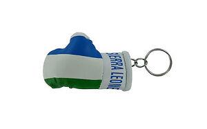 PORTACHIAVI-pelle-porta-chiavi-auto-Guantoni-da-boxe-bandiera-Sierra-Leone