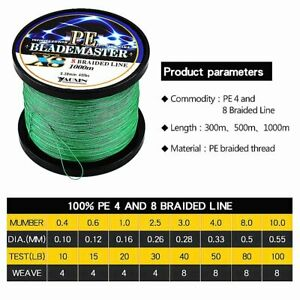 300-1000M-Super-Strong-PE-Spectra-Braided-Sea-Fishing-Line-4-8-Strands-12-100LB