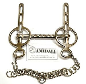 LIVER-POOL-DRIVING-BIT-STAINLESS-STEEL-CURB-CHAIN-3-SLOTS-BNWT-4-SIZES-AMIDALE