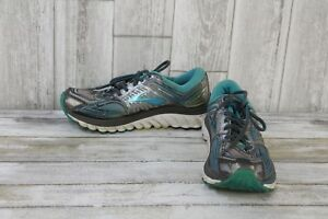 Brooks-Glycerin-13-Running-Shoes-Women-039-s-Size-7-5-B-Grey-Silver-Blue