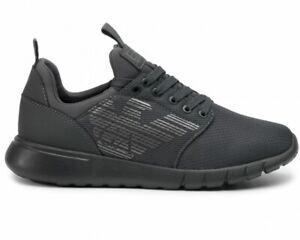Emporio-Armani-X8X007-XCC02-EA7-Mesh-Sneaker-Uomo-Grigio-Scarpe-Da-Ginnastica