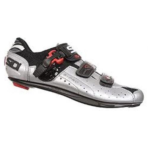New SIDI Genius 5 Pro Carbon Road Bike Cycling Shoes Black Silver EU38-39