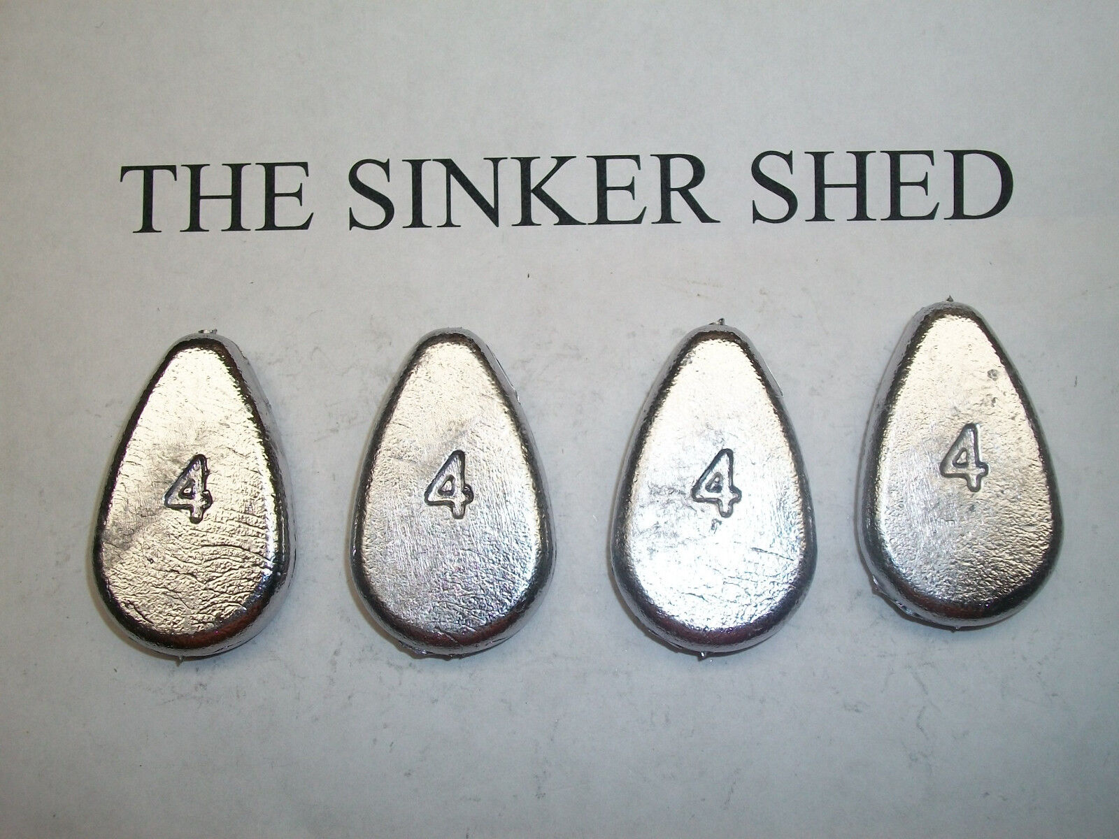 4 oz no roll slip sinkers  - quantity of 6 12 25 50 100 250 - FREE SHIPPING