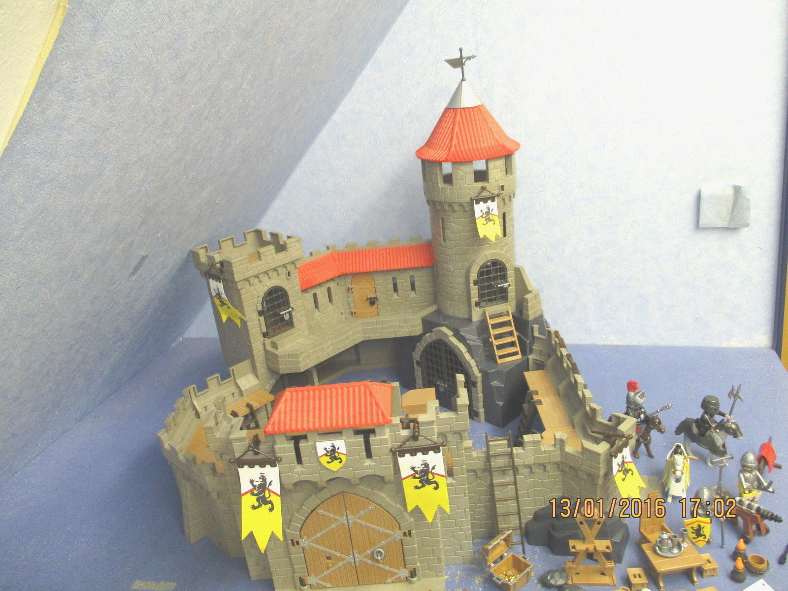 4865 Ritterburg Löwenritterburg 2 Kanonen  Ritter Knigths Caste  Playmobil 3998