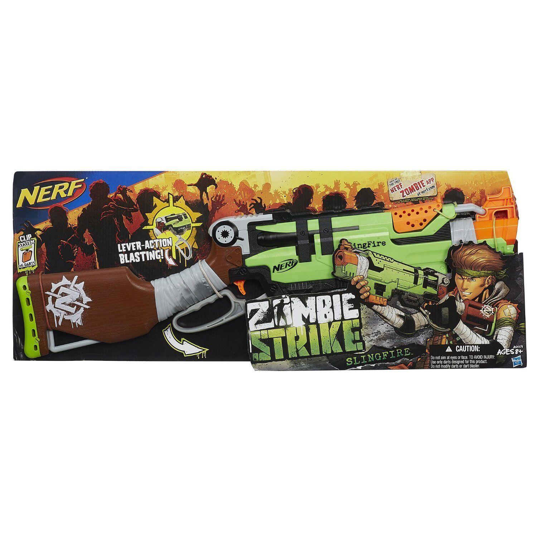Helt ny NERF Zombie Strike SLINGEFIRE Dkonst Blaster RARE
