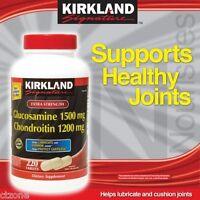 Kirkland Signature Glucosamine HCI 1500mg Chondroitin Sulfate 1200mg 220 Tablets / New Increased Count (Kirkland) Nutrition