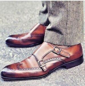 Handmade Men's Genuine Brown Leather