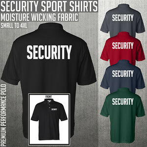 Security Sport Shirts ** Premium Performance Fabric ** Uniform ** Guard ** Polo