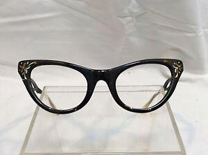 True Vintage American Optical Womens Eyeglass Frames 50s 60s RARE UNIQUE cateye