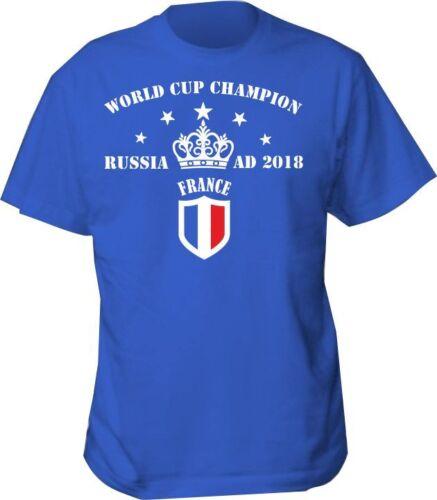 T SHIRT WORLD CUP CHAMPION 2018 FRANCE CHAMPIONS RUSSIA FOOTBALL SHIRT VIVA LA