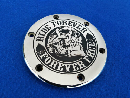 """M1800R. Polished generator cover /""""RIDE FOREVER/"""" for Suzuki M109R"""