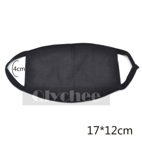 1 PC Women Men Black Cycling Anti-Dust Cotton Mouth Face Mask Respirator Unisex
