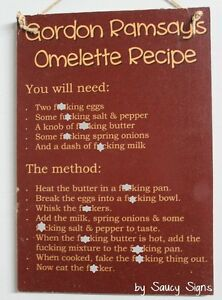 Gordon-Ramsay-039-s-F-cking-Omelette-Recipe-Sign-kitchen-bar-pub-mancave-bbq-sign