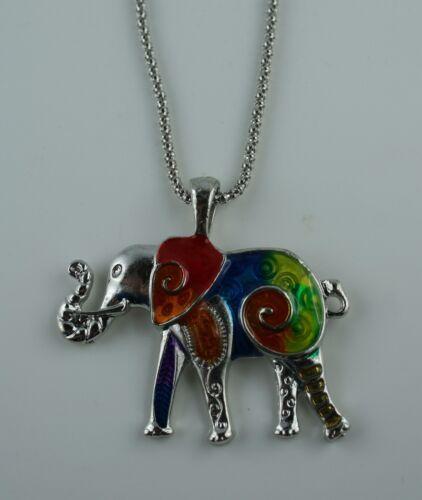 Bunte Kette Elefant  cooles Teil