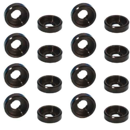 16 Stück Unterlegscheiben mit Rand M6 schwarz Kunststoff Polyamid U Scheiben NEU