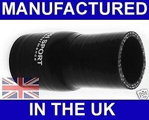 38mm à 28mm Silicone Réducteur Droit Tuyau UK Noir
