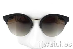 67c73b28986 Image is loading New-Burberry-Black-Round-Semi-Rimless-Brown-Gradient-