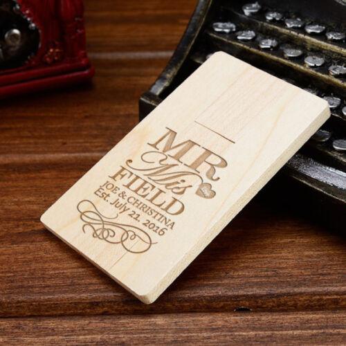 Custom Wooden Card USB Flash Drive Flash Drive USB Stick USB 2.0 Pen Drive