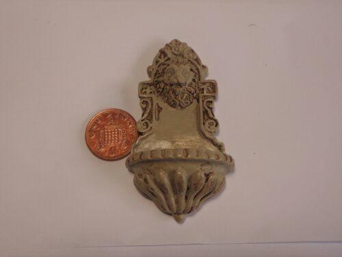 Cabeza de león Fuente de pared casa de muñecas en miniatura Bricolaje Accesorio /& accesorios recargado