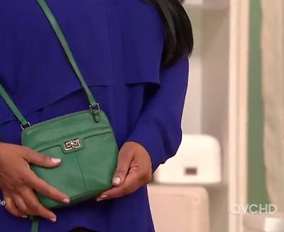 B Makowsky Maise Glove Leather Zip Around Mini Crossbody Bag Emerald Green NWT