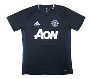 Manchester United 2016-17 originale camicia di formazione (eccellente) M SOCCER JERSEY