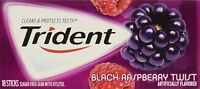 12 Packs Trident Black Raspberry Twist Sugar Free Gum18 Sticks/pack = 216 Sticks