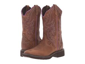 bc72cdeba17 Details about Women's Justin 12-Inch Raya Tan Waxy Leather Cowboy Boots  Style #L2918