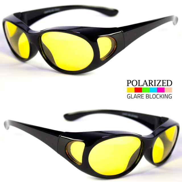2ebbeaa763 FIT OVER SUNGLASSES COVER FISHING ALL HD HIGH DEFINITION NIGHT DRIVING  VISION k