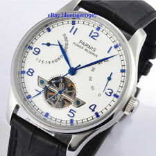 Parnis 43mm Seagull Power Reserve Movement Tourbillon Men's Gent Automatic Watch