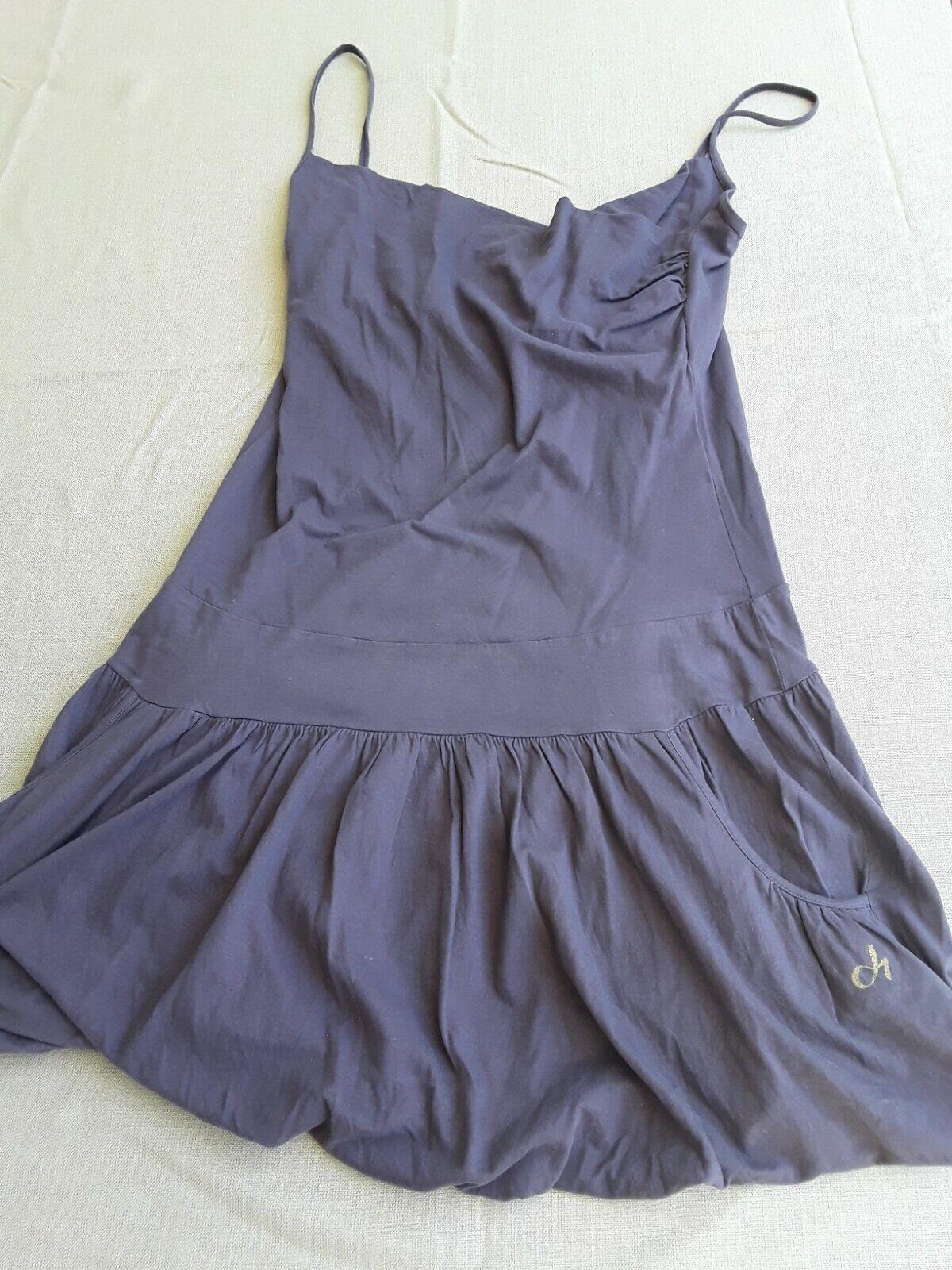 Deha*Träger*Volant*Kleid*Größe L*Trikotkleid*mit Eingrifftaschen*lila*38*40*TOP