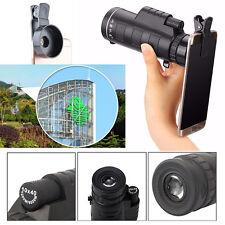 Universal 10x40 Telephoto Lens Cell Phone Telescope Monocular+ Universal bracket