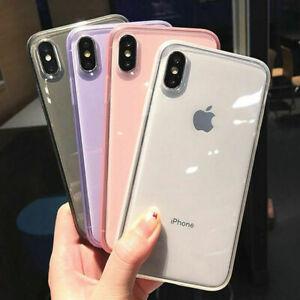 A-prueba-de-choques-Transparente-De-Silicona-Funda-cubierta-para-iPhone-XS-Max-XR-8-7-Plus-6-6S-X